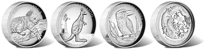 2012 High Relief Silver Proof Four-Coin Collection