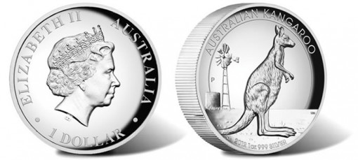 2012 Kangaroo High Relief Coin