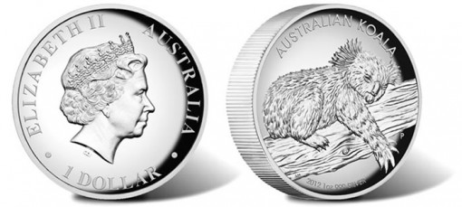 2012 Koala High Relief Coin