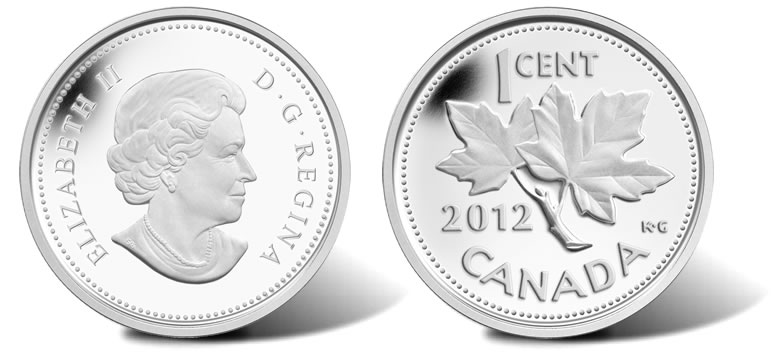 2012 Canadian Farewell to the Penny 1 Cent Coins Released