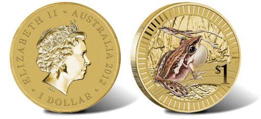 2012 Rocket Frog $1 Coin