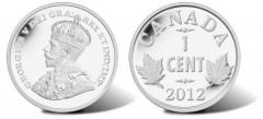 2012 Two Maple Leaves Design (1920-1936) 1 Cent Silver Coin