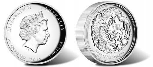 2012 Year of the Dragon High Relief Coin
