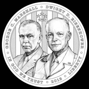 2013 $1 5-Star General Commemorative Silver Coin Obverse Design