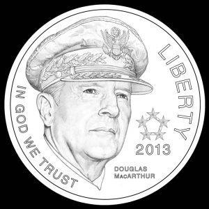 2013 $5 5-Star General Commemorative Gold Coin Obverse Design