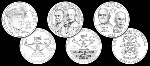 2013 5-Star Generals Commemorative Coin Designs