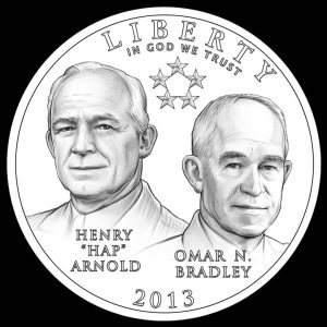2013 50c 5-Star General Commemorative Clad Coin Obverse Design