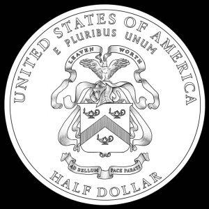 2013 50c 5-Star General Commemorative Clad Coin Reverse Design