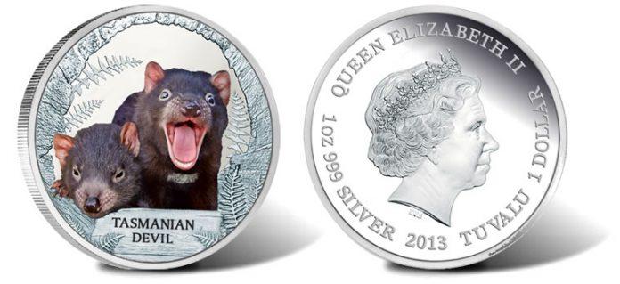 2013 Tasmanian Devil 1oz Silver Proof Coin