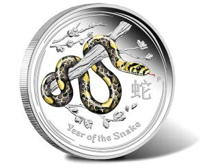 Australian 2013 Year of the Snake 1 oz Colored Proof Silver Coin