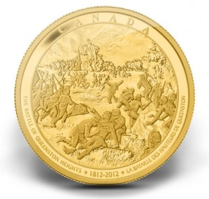Battle of Queenston Heights 2012 Canadian 1 Kilo Gold Coin
