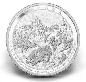 Battle of Queenston Heights 2012 Canadian 1-Kilo Silver Coin