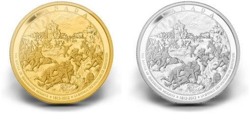 Battle of Queenston Heights 2012 Canadian Gold and Silver Coins