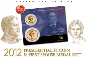 Chester Arthur Presidential $1 Coin and Alice Paul Medal Set