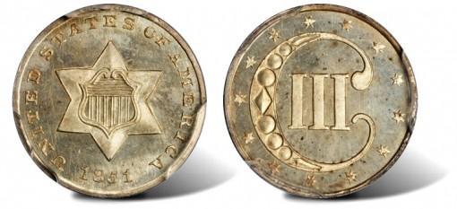 1851 Silver Three-Cent Piece