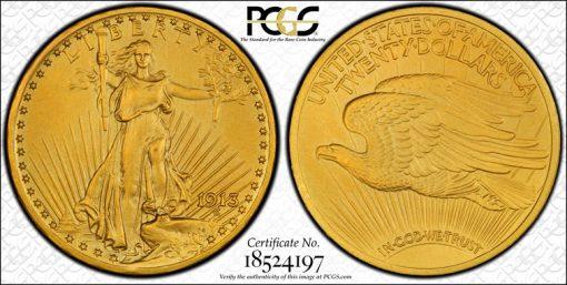 1913 PCGS PR66 CAC $20