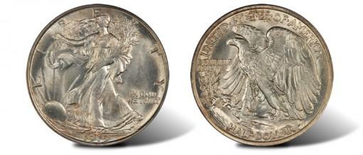 1919-D half dollar PCGS MS65