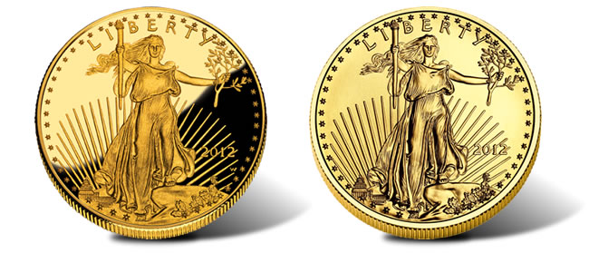 2012 American Eagle Gold Coins - Proof and Bullion