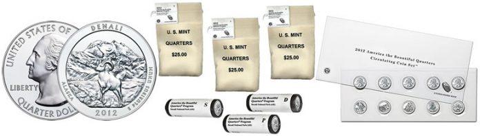 2012 Denali Silver Coin, Denali Quarters and ATB Circulating Set