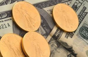 American Gold Eagle coins and US Money