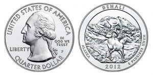 Denali National Park Five Ounce Silver Uncirculated Coin