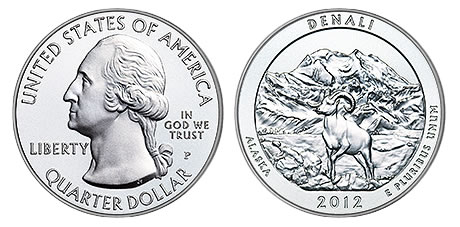 Denali National Park Five Ounce Silver Uncirculated Coin