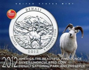 Denali National Park and Preserve Five Ounce Silver Uncirculated Coin