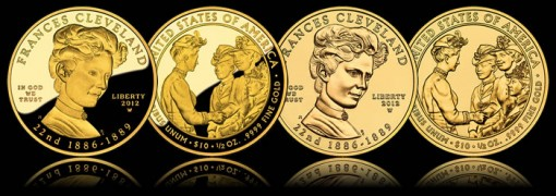 Frances Cleveland (First Term) First Spouse Gold Coins