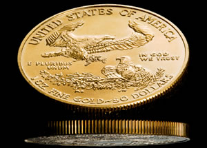 Reverse of American Gold Eagle bullion coin