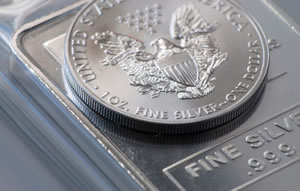 Silver Eagle Bullion Coin and Silver Bullion Bars