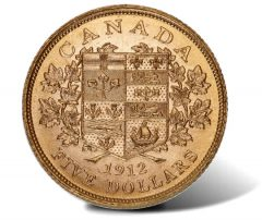 1912 $5 Canadian gold coin