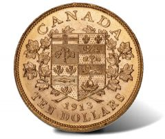 1913 $10 Canadian gold coin