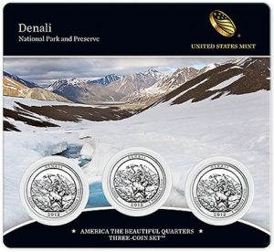 2012 Denali National Park Quarters Three-Coin Set