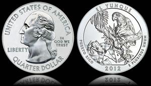 2012 El Yunque National Forest 5 oz. Silver Bullion Coin