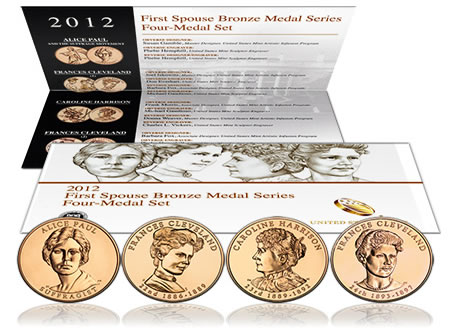 2012 First Spouse Bronze Four-Medal Set