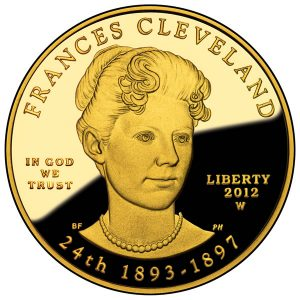 2012 Frances Cleveland (Second Term) First Spouse Gold Coin - Proof Obverse