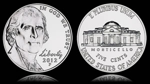 2012-P Jefferson Nickel