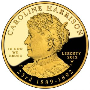 2012-W Proof Caroline Harrison First Spouse Gold Coin - Obverse