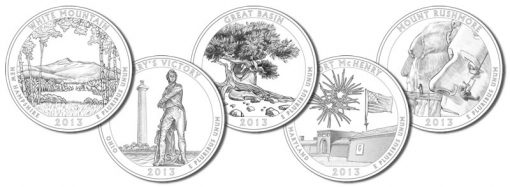 2013 America the Beautiful Quarters and Silver Coin Designs