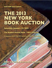 Kolbe & Fanning Announce 2013 New York Book Auction