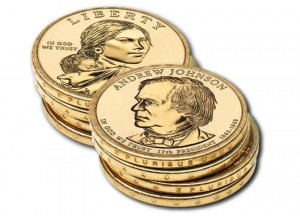 Edges of $1 Coins