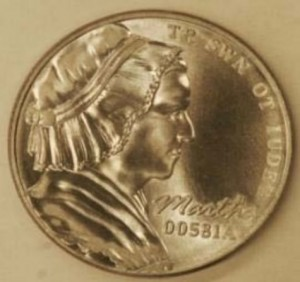 Five-Cent Coin of Stainless Steel Struck at 70 Tonnes