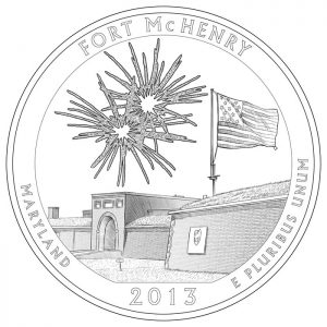 Fort McHenry National Monument and Historic Shrine Quarter and Silver Coin Design