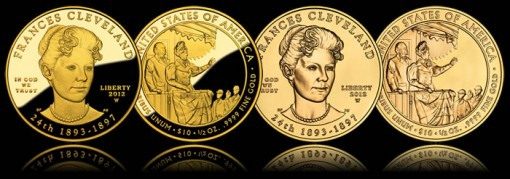 Frances Cleveland Second Term First Spouse Gold Coins