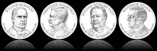 Line Art Designs of 2013 Presidential $1 Coins