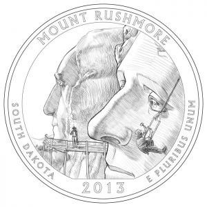 Mount Rushmore National Memorial Quarter and Silver Coin Design