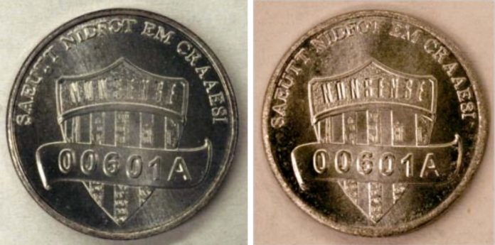 One-Cent Coins of Aluminized Steel Struck at 50 tonnes