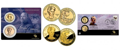 Second Term Cleveland $1, Medal and Gold Coin Products