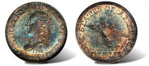 Finest 1792 Silver Half Disme Anchors New York Americana Sale