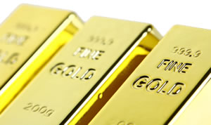Three Fine Gold Bullion Bars